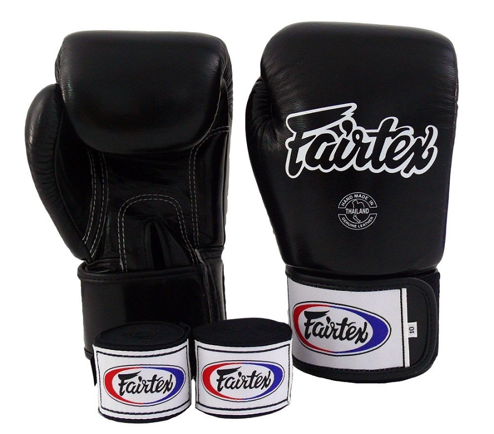 Fairtex Muay Thai Boxing Gloves BGV1 Black White Red Gloves